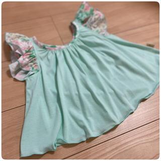 フェフェ(fafa)のDAVON fafa フリルシャツ 120cm 紫陽花(Tシャツ/カットソー)