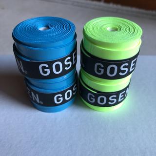 ゴーセン(GOSEN)のゴーセングリップテープ青と フラッシュイエロー各2個計4個(バドミントン)