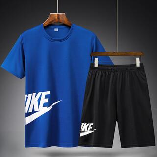 半袖 メンズ 短パン ショートパンツ 上下セット スポーツウェア XL 色自由(Tシャツ/カットソー(半袖/袖なし))