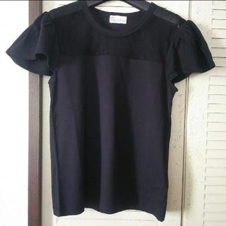 レッドヴァレンティノ(RED VALENTINO)のREDVALENTINOレーストップス新品タグつき(Tシャツ(半袖/袖なし))
