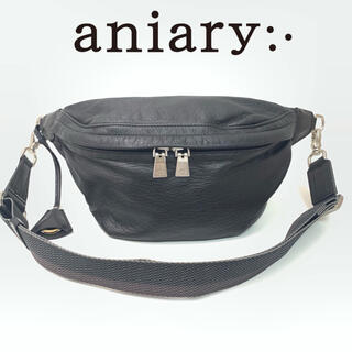aniary - aniary レザー ボディバッグ ブラック
