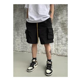 BLACK ICON  海外ブランド ブラック ショートパンツ XL メンズ(ショートパンツ)