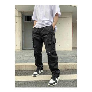 DONTCOWER 海外ブランド ブラック カーゴパンツ ワークパンツ(ワークパンツ/カーゴパンツ)