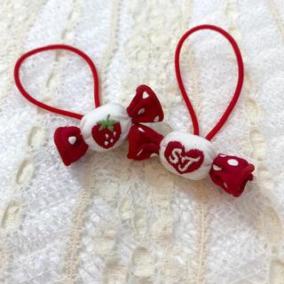 シャーリーテンプル(Shirley Temple)の新品 キャンディモチーフポニー 赤 シャーリーテンプル ヘアゴム いちご レッド(その他)