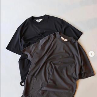 サンシー(SUNSEA)のsunsea 21ss  34T  size3  BLACK(Tシャツ/カットソー(半袖/袖なし))