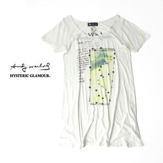 ヒステリックグラマー(HYSTERIC GLAMOUR)のヒステリックグラマー×アンディウォーホル ロング丈Tシャツ(Tシャツ(半袖/袖なし))