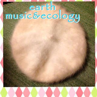 アースミュージックアンドエコロジー(earth music & ecology)のラビットファーベレー帽(ハンチング/ベレー帽)