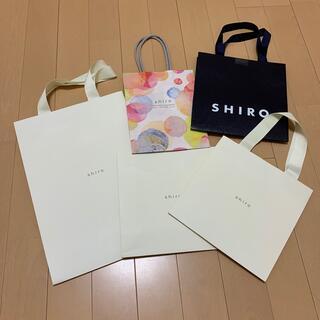 シロ(shiro)のshiro ショップ袋5枚セット(ショップ袋)
