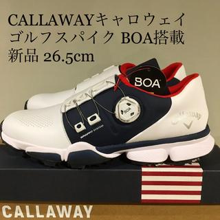 キャロウェイ(Callaway)の【新品】キャロウェイ CALLAWAY ゴルフシューズ BOA 白 26.5cm(シューズ)