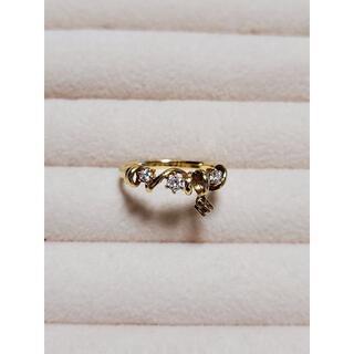 タサキ(TASAKI)の田崎真珠 K18YG 揺れるダイヤモンドリング(リング(指輪))