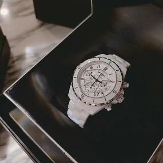 シャネル(CHANEL)のシャネル J12 クロノグラフ 白(腕時計(アナログ))