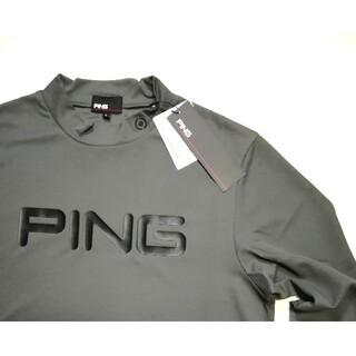 ピン(PING)の45さん専9/27 新品 PING ピン ストレッチ モックネックシャツ(ウエア)