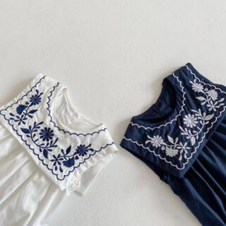 ザラキッズ(ZARA KIDS)のsale♡韓国子供服♡花柄刺繍ロンパース♡70cm♡(ロンパース)
