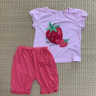 西松屋 - 100cm 半袖 パジャマ イチゴ柄