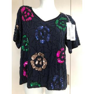 グレースコンチネンタル(GRACE CONTINENTAL)のグレースコンチネンタル グレースクラス スパンコール トップス(Tシャツ(半袖/袖なし))