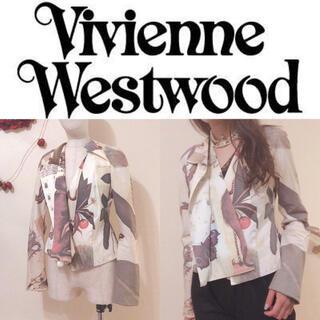 ヴィヴィアンウエストウッド(Vivienne Westwood)の【viviennewestwood】総柄ジャケット♡イタリア製 レア(テーラードジャケット)