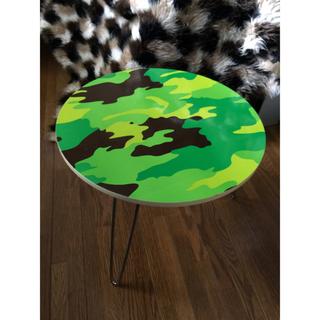 カモ柄 迷彩 ★ ミニテーブル ローテーブル ★ 折りたたみ ちゃぶ台 座卓(ローテーブル)