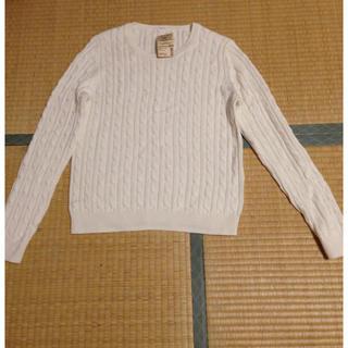 ムジルシリョウヒン(MUJI (無印良品))の無印 オーガニックコットン ケーブルセーター(ニット/セーター)