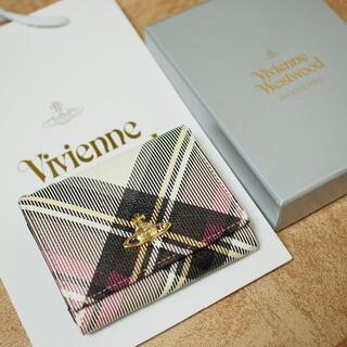 Vivienne Westwood - 未使用品 vivienne West wood 三つ折り財布 チェック