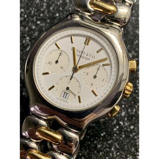 ティファニー(Tiffany & Co.)のティファニー ティソロ クロノグラフ K18/SS(腕時計)
