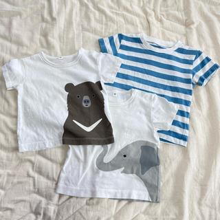 ムジルシリョウヒン(MUJI (無印良品))の❣️お値段交渉OK❣️無印良品*80センチ、Tシャツ3枚セット(Tシャツ)