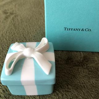 ティファニー(Tiffany & Co.)のTiffany ティファニー ミニブルーボウボックス 小物入れ(小物入れ)