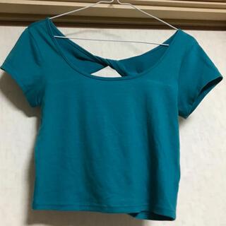 リゼクシー(RESEXXY)のRESEXXY リゼクシー Tシャツ カットソー トップス 背中開き ショート丈(Tシャツ(半袖/袖なし))