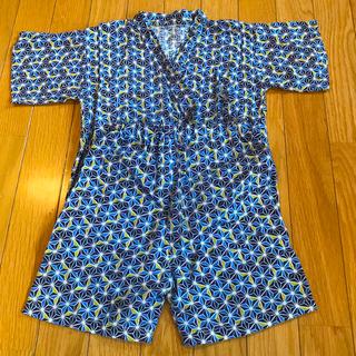 ニシマツヤ(西松屋)の一度のみ着用💐美品✨甚平 夏 着物 男の子🌺お祭り ブルー 120サイズ💐(甚平/浴衣)