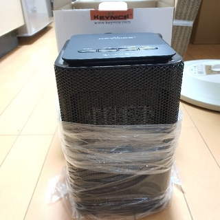 KEYNICE 電気セラミックファンヒーター 小型 首振り 3段階切替 ブラック(電気ヒーター)