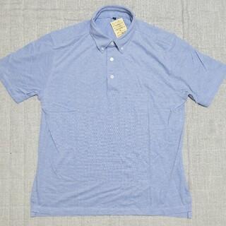 ムジルシリョウヒン(MUJI (無印良品))の無印良品 涼感 鹿の子編み ボタンダウンポロシャツ XL  サックスブルー(ポロシャツ)
