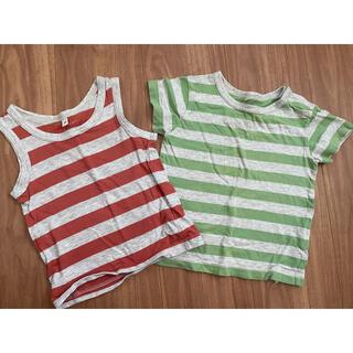 ムジルシリョウヒン(MUJI (無印良品))の無印 半袖&タンクトップセット 80サイズ(Tシャツ)