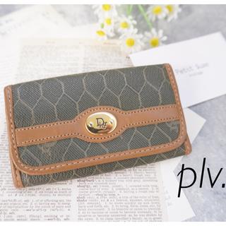 クリスチャンディオール(Christian Dior)のクリスチャンディオール ハニカム柄 キーケース(キーケース)