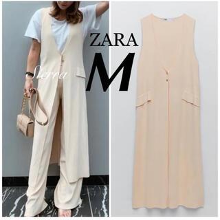 ZARA - 今季完売 ZARA 新品 ロング丈ニットベスト M ニットジレ ungrid