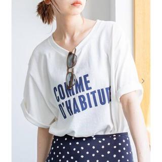 イエナ(IENA)のCOMME DHABITUDE Tシャツ ホワイト(Tシャツ/カットソー(半袖/袖なし))