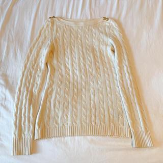 ラルフローレン(Ralph Lauren)のラルフローレン アイボリー クリーム 綿100% コットン100% セーター(ニット/セーター)