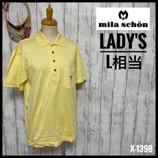 【ミラショーン】 ゴルフウェア ゴルフシャツ ポロシャツ レディースL