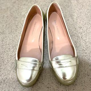 ファビオルスコーニ(FABIO RUSCONI)の美品 ファビオルスコーニ パンプス ローファー 36 ゴールド(ローファー/革靴)