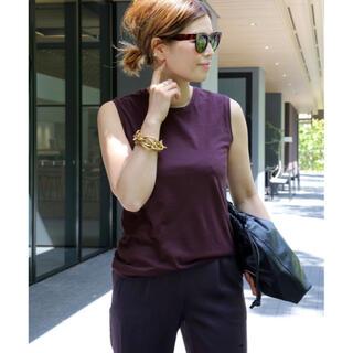 ドゥーズィエムクラス(DEUXIEME CLASSE)の新品タグ付き Terrfic Tシャツ パープル(Tシャツ/カットソー(半袖/袖なし))