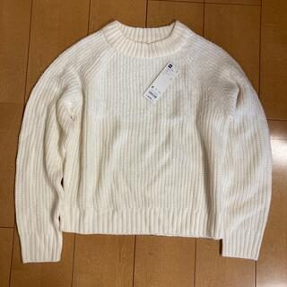 ジーユー(GU)のGU セーター 白 サイズM  未使用 美品(ニット/セーター)