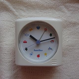 ファミリア(familiar)のfamiliar 目覚まし時計(置時計)