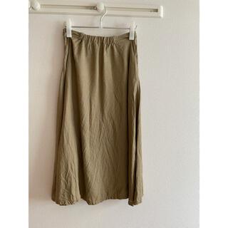 ムジルシリョウヒン(MUJI (無印良品))の無印良品 フレンチリネンフレアースカート(ロングスカート)