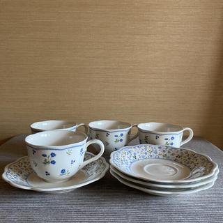 ニッコー(NIKKO)のNIKKO  ニッコー カップ&ソーサー 4客セット 小花柄(食器)