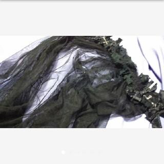 ベール付きヘッドドレス 黒 十字架 シスターヘッドドレス 修道女 黒 美品