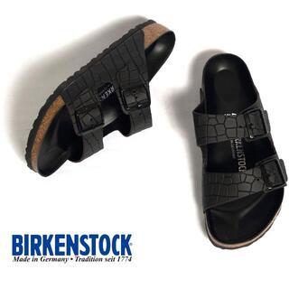 BIRKENSTOCK - ★【新品未使用】ビルケンシュトック アリゾナ エンボスレザー メンズサンダル