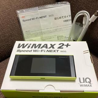 ファーウェイ(HUAWEI)のUQ WiMAX2+ Speed Wi-Fi NEXT W05 ブラックライム(PC周辺機器)
