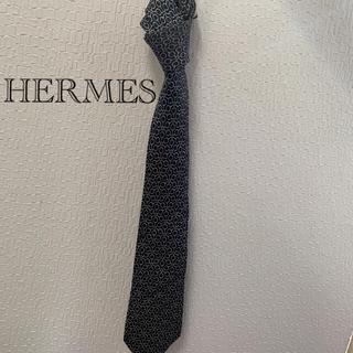 Hermes - 銀座店購入 エルメス シルクネクタイ HERMES ネクタイ ユニセックス
