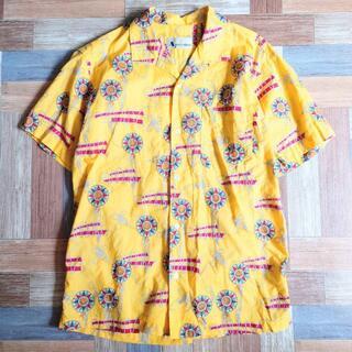 アクアスキュータム(AQUA SCUTUM)の90's Aquascutum 半袖 開襟 シャツ イエロー(シャツ)