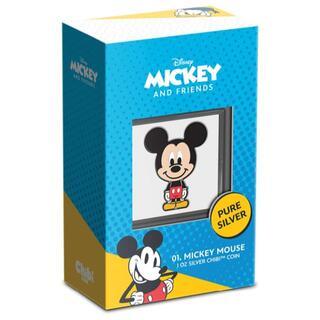 ディズニー(Disney)の2021 ニウエ チビコイン ミッキーマウス型 1オンス プルーフカラー銀貨(貨幣)