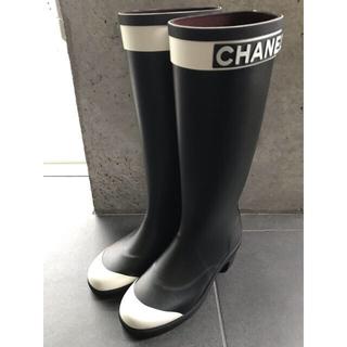 シャネル(CHANEL)の値下げしました☆CHANEL レインブーツ ラバー素材 サイズ38(レインブーツ/長靴)
