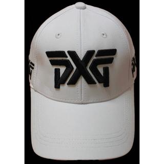 「新品・既納」PXG ゴルフキャップ 白2・White 男女兼用 サイズ調整可(キャップ)